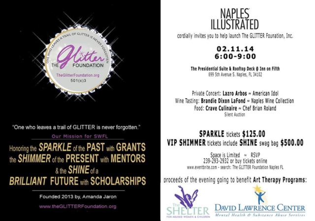 Glitter Foundation VIP event invite