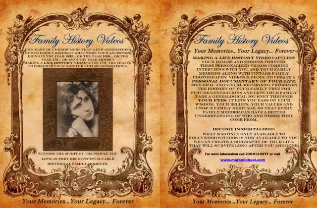 Life History Video brochure